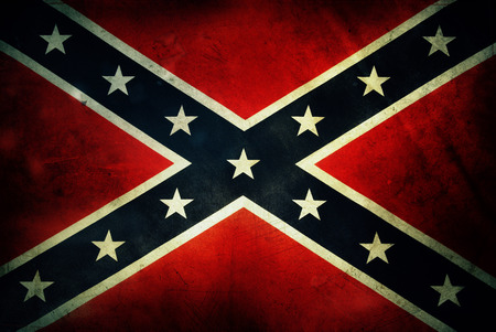 Closeup of grungy Confederate flag
