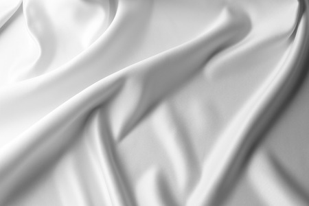 white linen: Closeup of lines in silk fabric  Stock Photo