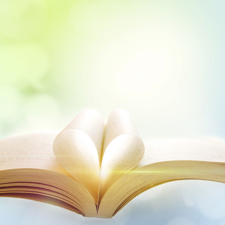 Book in front of abstract background  photo