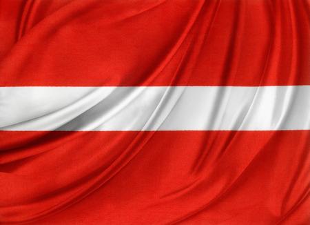 Closeup of silky Austrian flag  photo