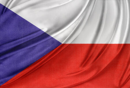 Closeup of silky Czech Republic flag photo