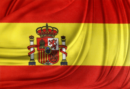 Closeup of silky Spanish flag photo