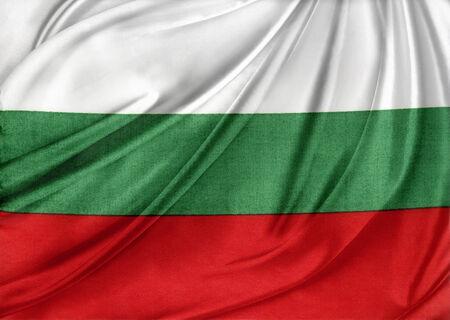 Gros plan de soyeux drapeau bulgare