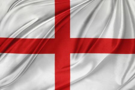 Closeup of silky English flag photo