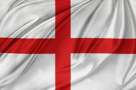 Closeup of silky English flag