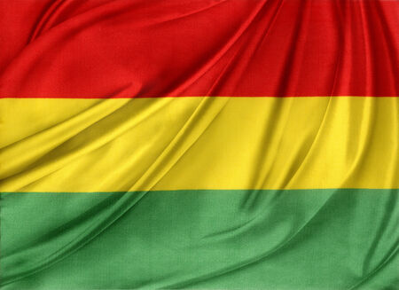 Closeup of silky Bolivian flag photo