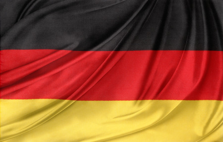 Closeup of silky German flag Banco de Imagens