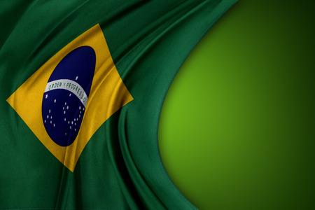 brazilian flag: Brazilian flag on green background Stock Photo