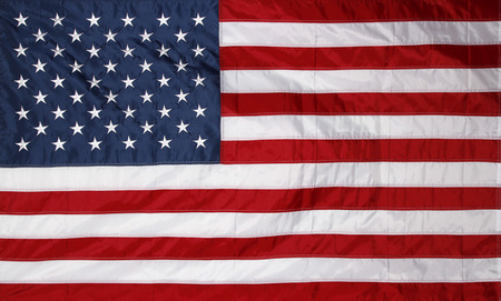 Closeup of new American flag photo