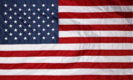spojené státy americké: Detailní záběr na nové americké vlajky Reklamní fotografie