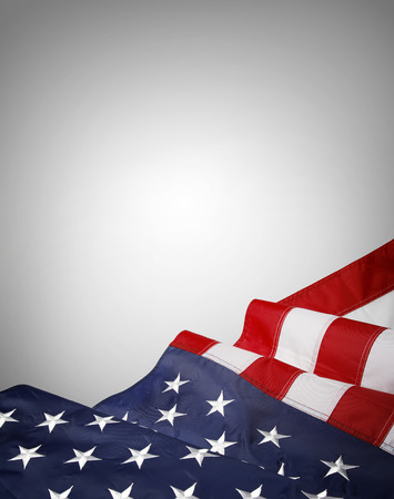 american states: Closeup of American flag on grey background