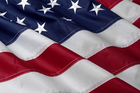 프릴 미국 국기의 근접 촬영 스톡 콘텐츠