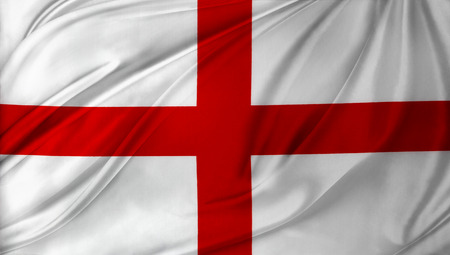 bandera inglaterra: Primer plano de la seda de la bandera Inglés