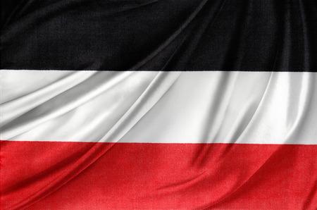 closeup of rippled German flag  photo
