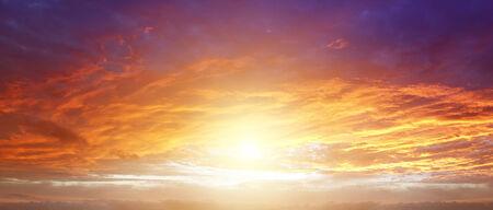warmth: Sunlight in warm summer sky Stock Photo