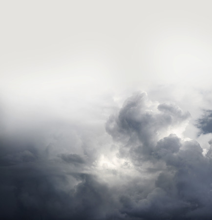 moody: Grey storm clouds, copy space above Stock Photo