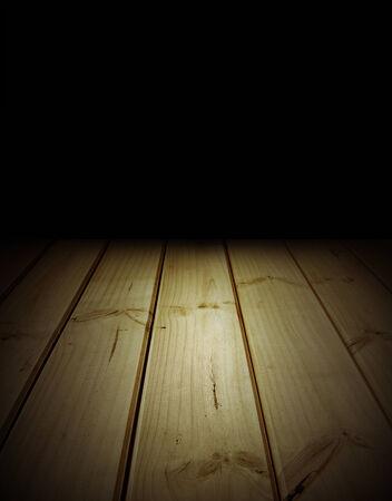 floorboards: Tarimas de madera y paredes de negro Foto de archivo