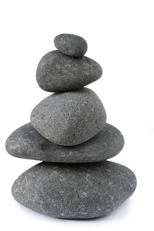 steadiness: Stones stacked on top of each other Stock Photo