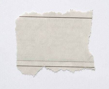 Piece of torn paper on plain background  photo