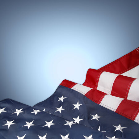 us: American flag on blue background