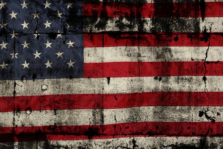 glory: Closeup of grunge American flag