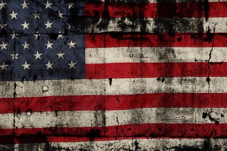 Detailní záběr na grunge americké vlajky Reklamní fotografie
