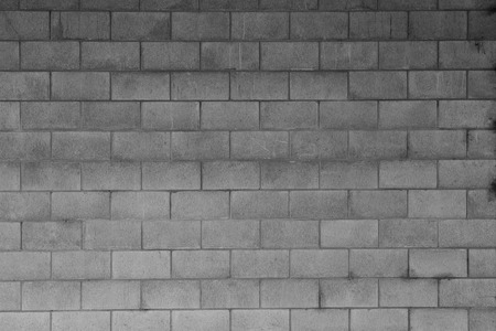 Closeup of grey block wall