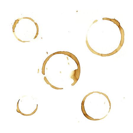 manchas de cafe: Manchas de caf� en papel normal Foto de archivo