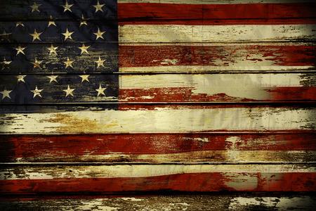 Close up da bandeira americana em placas