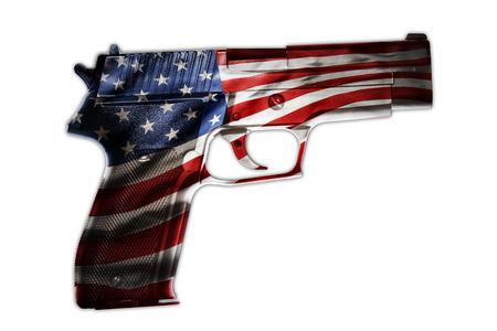 pistolas: Arma de mano y compuesta bandera americana