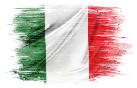 bandera italia: Bandera italiana en el llano