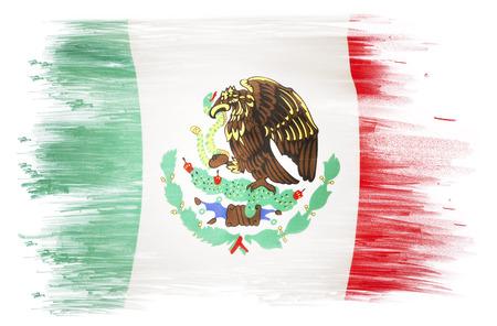 bandera de mexico: Bandera mexicana en el llano