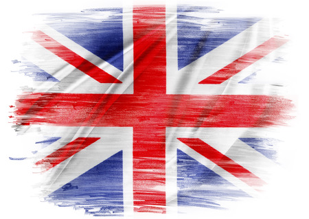 union jack: Union Jack flag on plain  Stock Photo