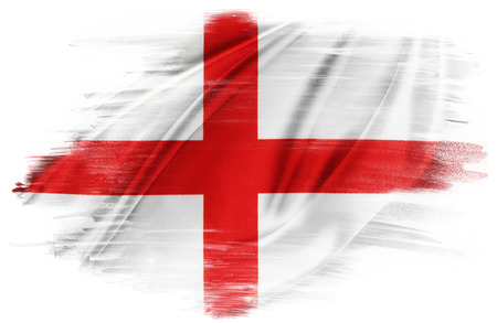 georges: St Georges Cross flag on plain background