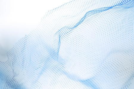 白い背景の上の抽象的な網タイツのクローズ アップ。青色のトーン 写真素材