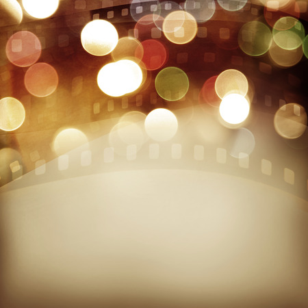 Film negative frames and colorful lights