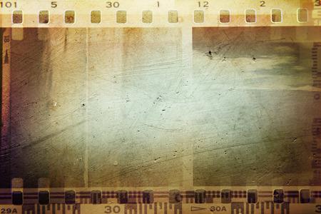 negative space: Film negative frames, film strips border