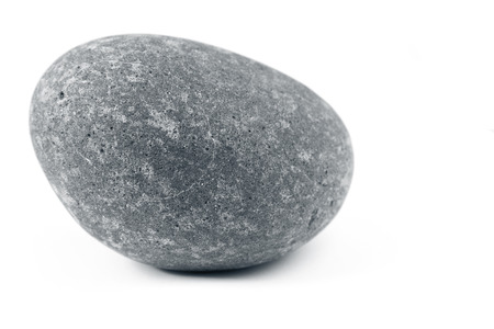 plain: Closeup of one rock on plain background