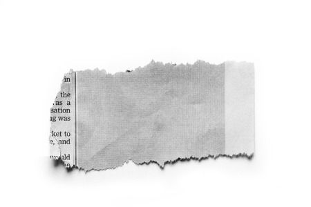 ripped: Piece of torn paper on plain background  Stock Photo