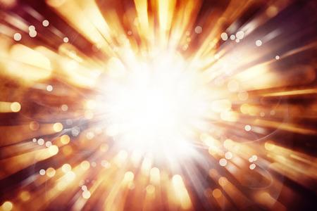 밝은 배경의 밝은 폭발
