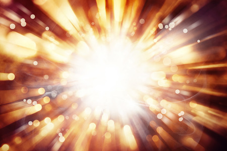Bright blast of light background Stock Photo
