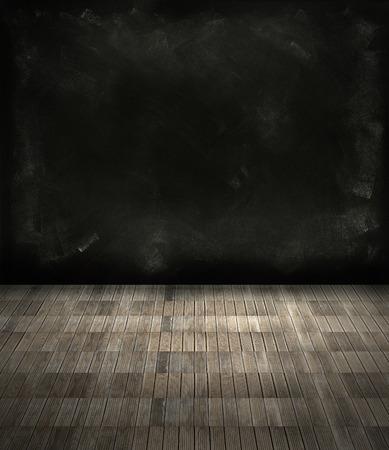 floorboards: Suelos de madera y pared oscura