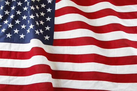 Nahaufnahme des gekr?uselten amerikanische Flagge Standard-Bild - 32502503