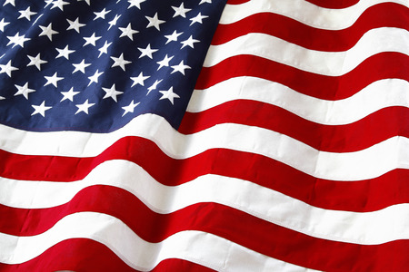 flag usa: Closeup of ruffled American flag