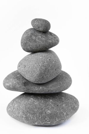 steadiness: Pile of balanced rocks Stock Photo