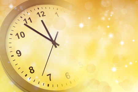 Clock face and abstract background. New Year. Christmas photo