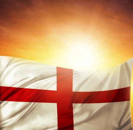 drapeau anglais: Drapeau anglais en face de ciel clair