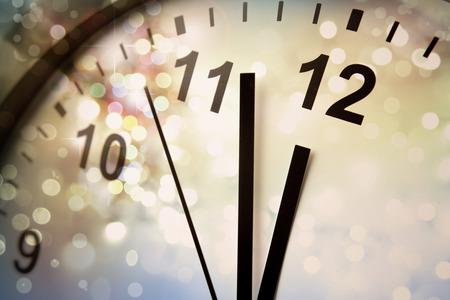 時計の文字盤と抽象的な背景。新しい年。クリスマス 写真素材