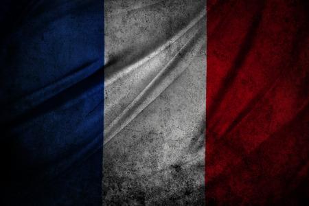 Franse vlag detail. Grunge effect