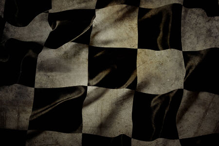 grungy: Grungy checkered black and white racing flag